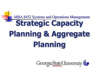 MBA 8452 Systems and Operations Management