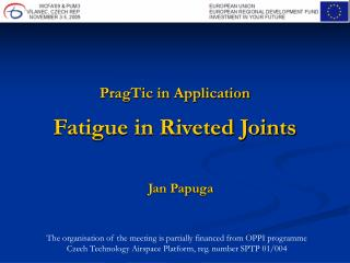 PragTic in Application Fatigue in Riveted Joints