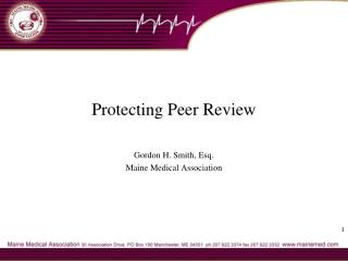 Protecting Peer Review