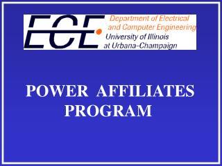 POWER  AFFILIATES PROGRAM