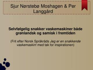 Sjur Nørstebø Moshagen & Per Langgård