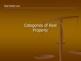 Categories of Real Property