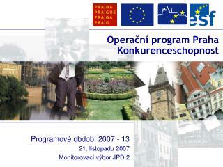 Operační program Praha Konkurenceschopnost