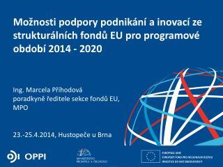 Možnosti podpory podnikání a inovací ze strukturálních fondů EU pro programové období 2014 - 2020