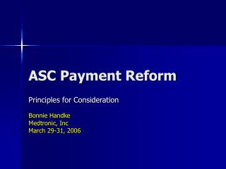 ASC Payment Reform