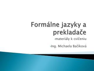 Form álne  jazyky a prekladače
