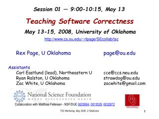 Teaching Software Correctness