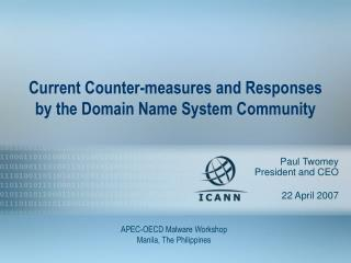 Current Counter-measures and Responses by the Domain Name System Community
