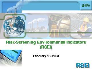 Risk-Screening Environmental Indicators (RSEI)