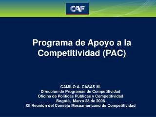 Programa de Apoyo a la Competitividad (PAC)