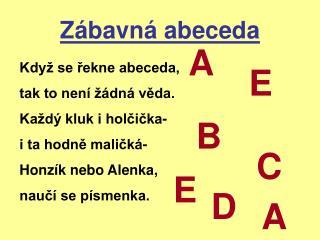 Zábavná abeceda
