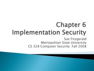 Chapter 6 Implementation Security