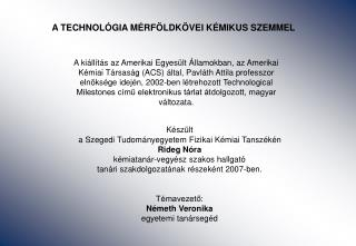 A TECHNOL GIA M RF LDK VEI K MIKUS SZEMMEL