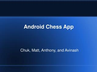 Android Chess App