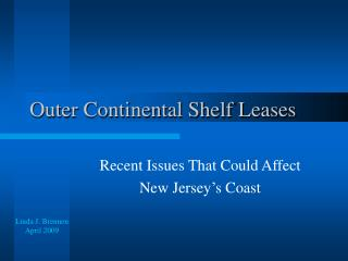 Outer Continental Shelf Leases