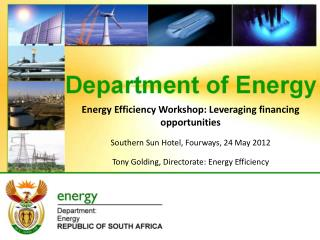 Energy Efficiency Workshop: Leveraging financing opportunities