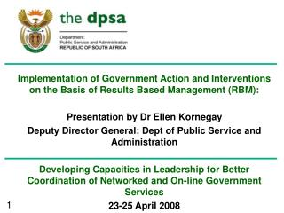 Current Governance issues that the monitoring and evaluation systems aims to address