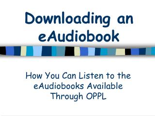 Downloading an eAudiobook