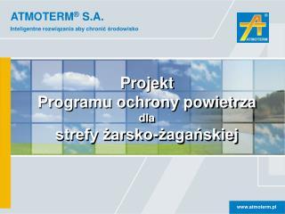 Projekt Programu  ochrony powietrza dla strefy żarsko-żagańskiej