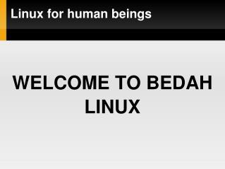 Linux for human beings