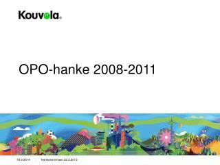 OPO-hanke 2008-2011
