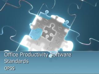 Office Productivity Software Standards