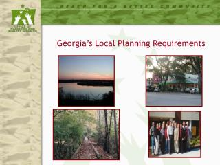 Georgia's Local Planning Requirements
