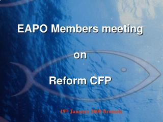 EAPO Members meeting on Reform CFP