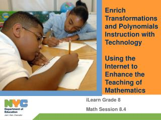 iLearn Grade 8 Math Session 8.4