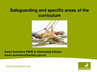 Safeguarding and specific areas of the curriculum