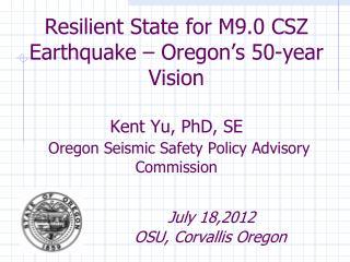 Cascadia Subduction Zone Earthquakes
