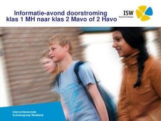 Informatie-avond doorstroming klas  1 MH  naar klas  2  Mavo  of 2  Havo