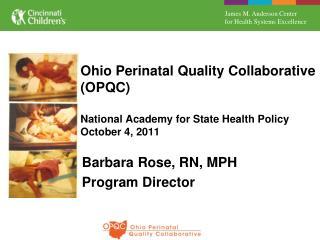 Barbara Rose, RN, MPH Program Director