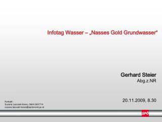 """Infotag Wasser – """"Nasses Gold Grundwasser"""""""