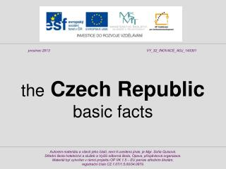 the Czech Republic basic facts