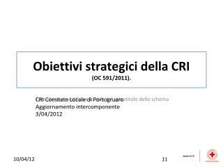 Obiettivi strategici della CRI  (OC 591/2011).