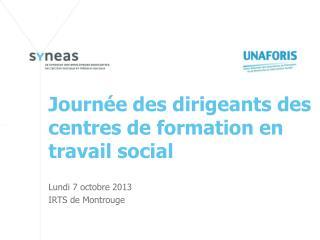 Journée des dirigeants des centres de formation en travail social