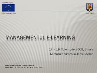 Managementul E-learning
