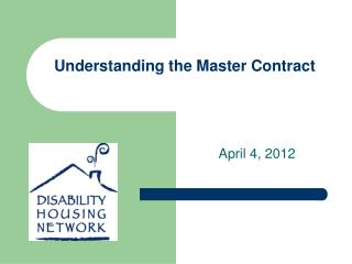 Understanding the Master Contract