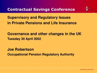 Contractual Savings Conference