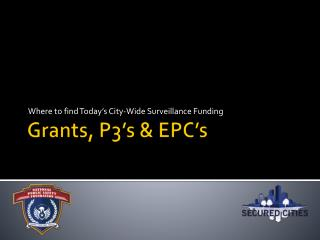 Grants, P3's & EPC's