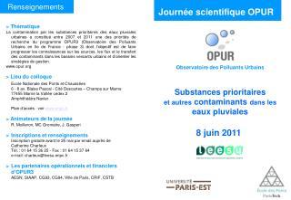 Journée scientifique OPUR