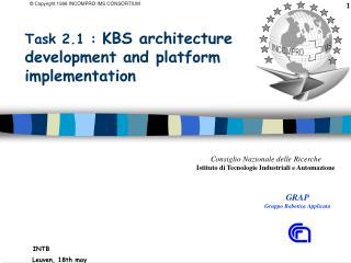 Task 2.1 :  KBS architecture development and platform implementation