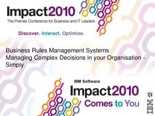 Business Rules Management Systems Managing Complex Decisions in your Organisation - Simply