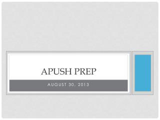 APUSh  Prep