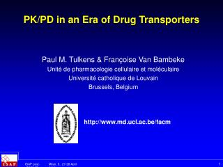PK/PD in an Era of Drug Transporters