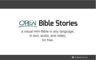 a visual mini-Bible in any language, in text, audio, and video, for free.