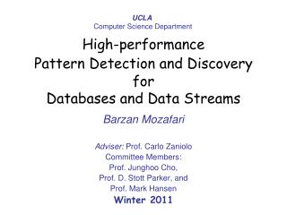 High-performance Pattern Detection and Discovery for  Databases and Data Streams