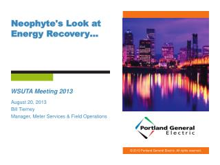 Neophyte's Look at Energy Recovery…