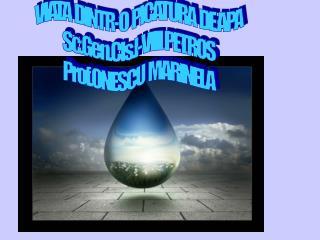 VIATA  DINTR-O  PICATURA  DE APA Sc.Gen.Cls.I-VIII PETROS Prof.ONESCU  MARINELA